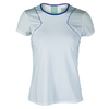 LUCKY IN LOVE Women`s Colorblock Tennis Cap Sleeve White