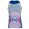 LUCKY IN LOVE Women`s Diamond High Neck Tennis Tank Print