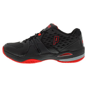Men`s Warrior Hard Court Tennis Shoes Black and Red