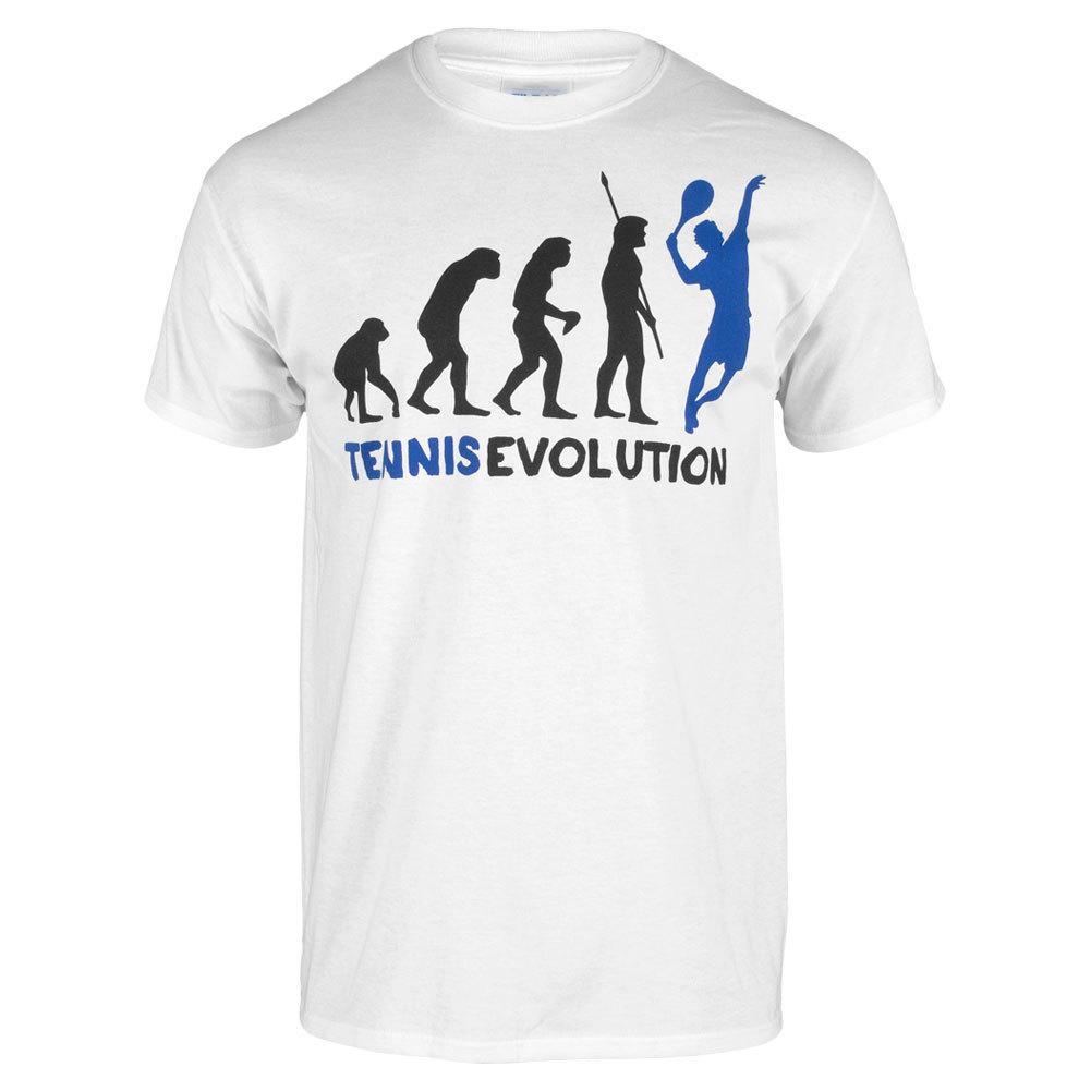Tennis Evolution Unisex Tee In White