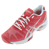 ASICS Women`s Gel-Solution Speed 2 Tennis Shoes Hibiscus and Silver