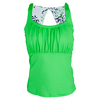 BOLLE Women`s Green with Envy Tennis Tank Kiwi