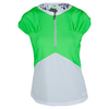BOLLE Women`s Green with Envy Cap Sleeve Tennis Top Kiwi