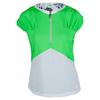 BOLLE Women`s Green with Envy Cap Sleeve Tennis Top Kiwi