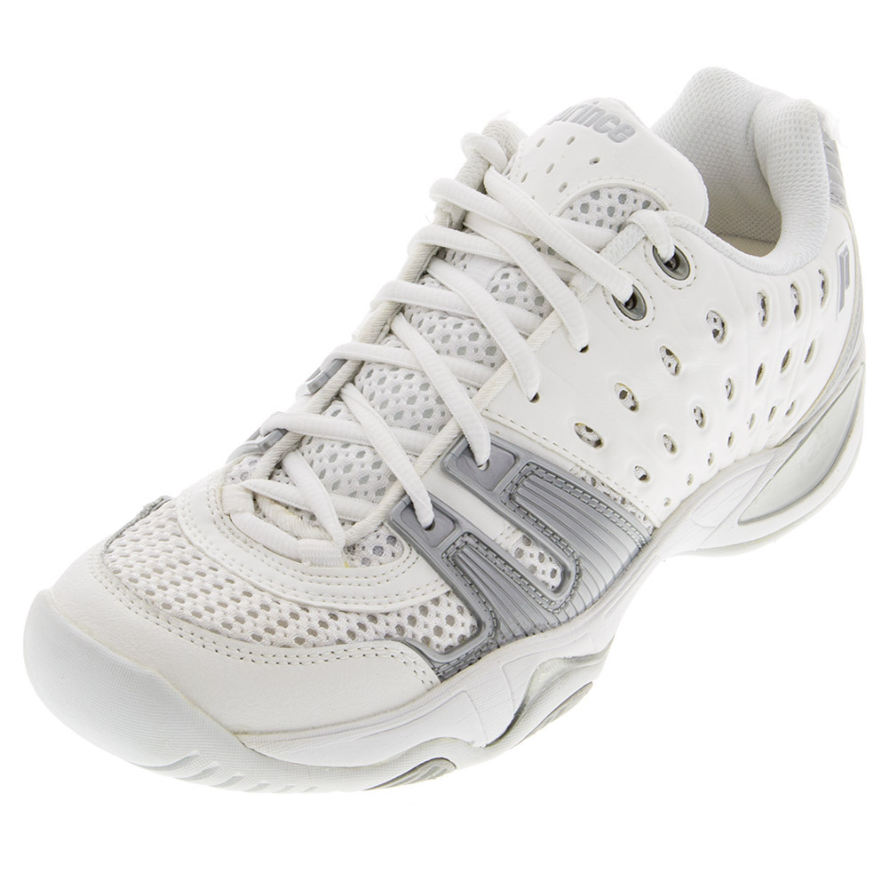 Juniors ` T22 Tennis Shoes White And Gray
