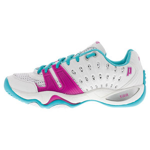 Women`s T22 Tennis Shoes White and Aqua