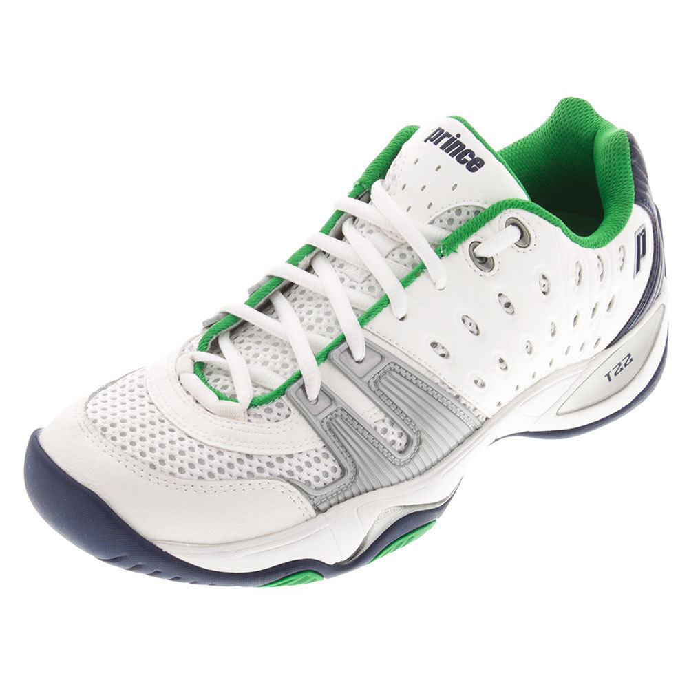 prince s t22 tennis shoes white and navy