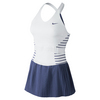 NIKE Women`s Maria Paris Tennis Dress White and Blue Legend