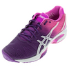 ASICS Women`s Gel-Solution Speed 2 Tennis Shoes Purple and Hot Pink