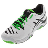 Men`s Gel-Challenger 10 Tennis Shoes White and Flash Green by ASICS