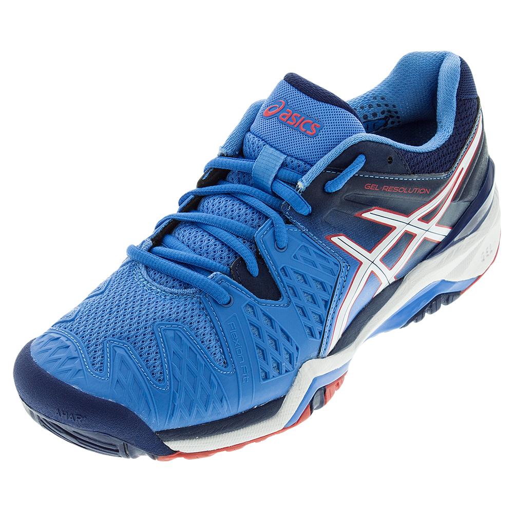 asics s gel resolution 6 tennis shoes powder blue