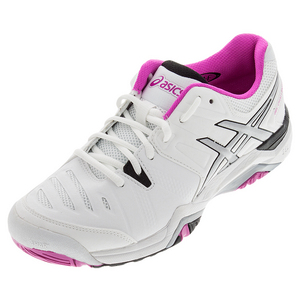 ASICS WOMENS GEL-CHALLNGR 10 TNS SHOES WH/PK