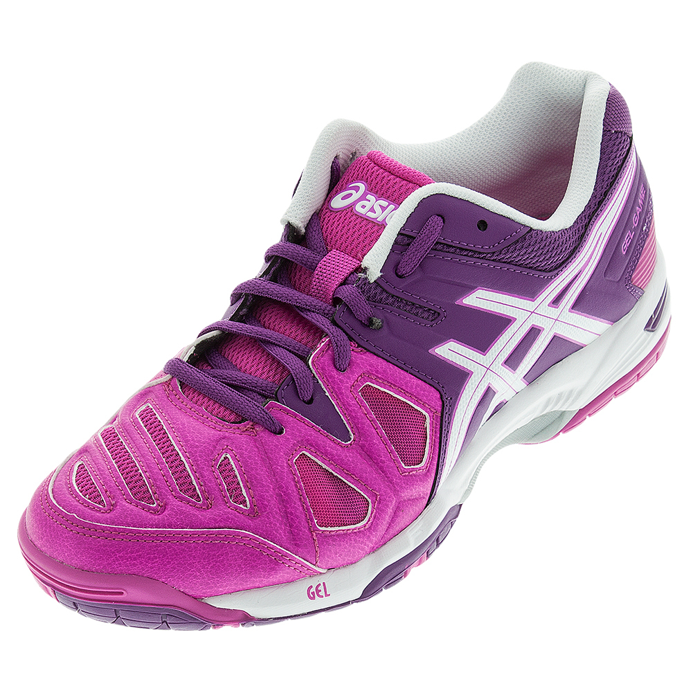 s gel 5 tennis shoes pink glow and grape ebay