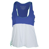 DENISE CRONWALL Women`s Layer Tennis Top Blue and White