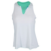 DENISE CRONWALL Women`s Racerback Tennis Top White