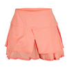 LUCKY IN LOVE Women`s Tuxedo Tier Tennis Skort Peach