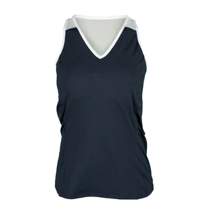 Women`s Maureen V-Neck Tennis Tank Slate