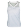 CHRISSIE BY TAIL Women`s Johanna V-Neck Tennis Top Chrissie Emboss