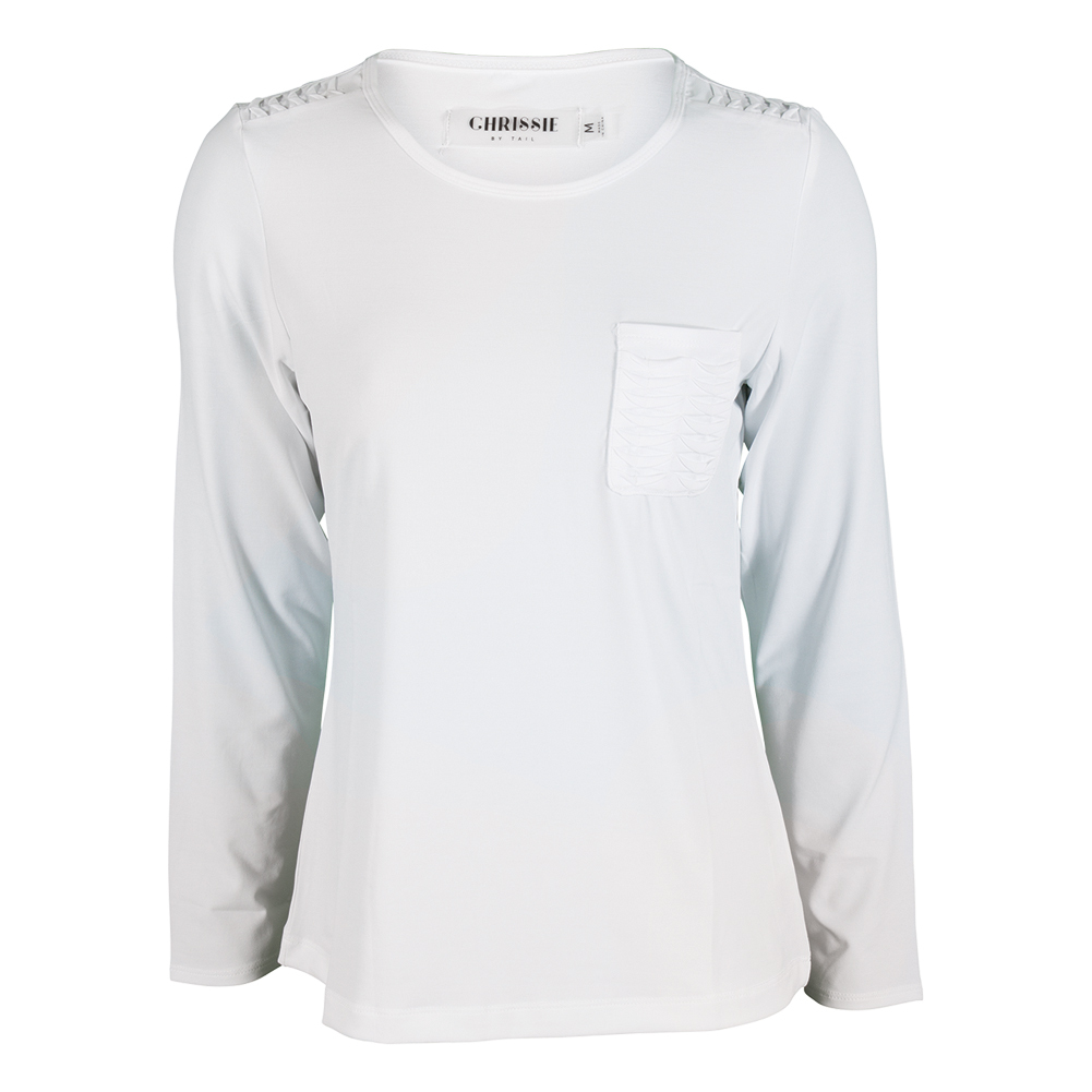 Women`s Jill Long Sleeve Tennis Top White