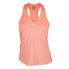 LUCKY IN LOVE Women`s V-Neck Tennis Tank Peach