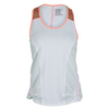 LUCKY IN LOVE Women`s Bungee Tennis Tank White