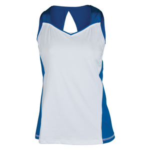 Women`s Everly Tennis Tank White and Nautical