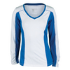 TAIL Women`s Amber Long Sleeve Tennis Top White and Nautical