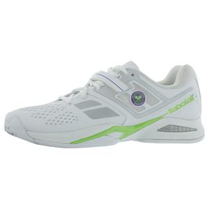 Men`s Propulse BPM Wimb Tennis Shoes White and Green