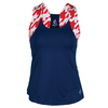 JOFIT Women`s Cosmopolitan Jacquard Lagoon Tennis Tank Blue Depth