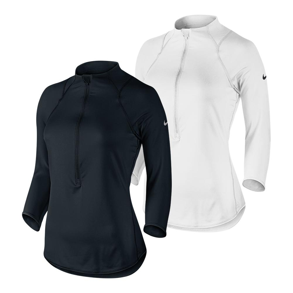 Women's Baseline Half- Zip Tennis Top