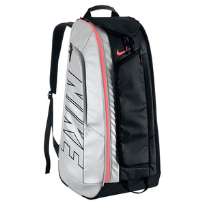 Tennis Court Tech 1 Bag Black and Hot Lava