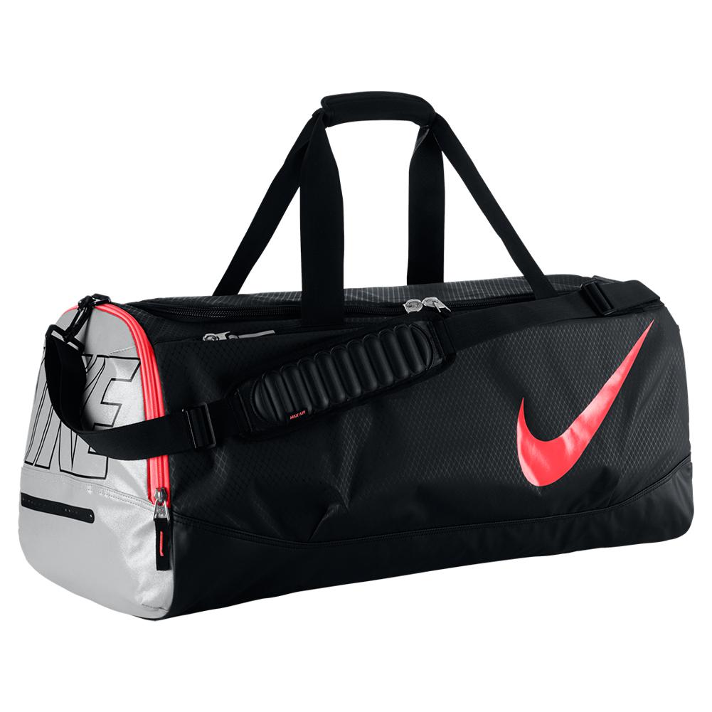 Tennis Court Tech Duffle Bag Black And Hot Lava
