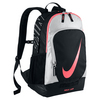 NIKE Tennis Court Tech Backpack Black and Hot Lava