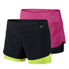 NIKE Women`s Perforated Rival 2-In-1 Running Short