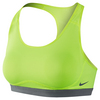 NIKE Women`s Pro Fierce Bra Volt and Cool Gray