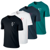 NIKE Men`s Roger Short Sleeve V-Neck Tennis Tee