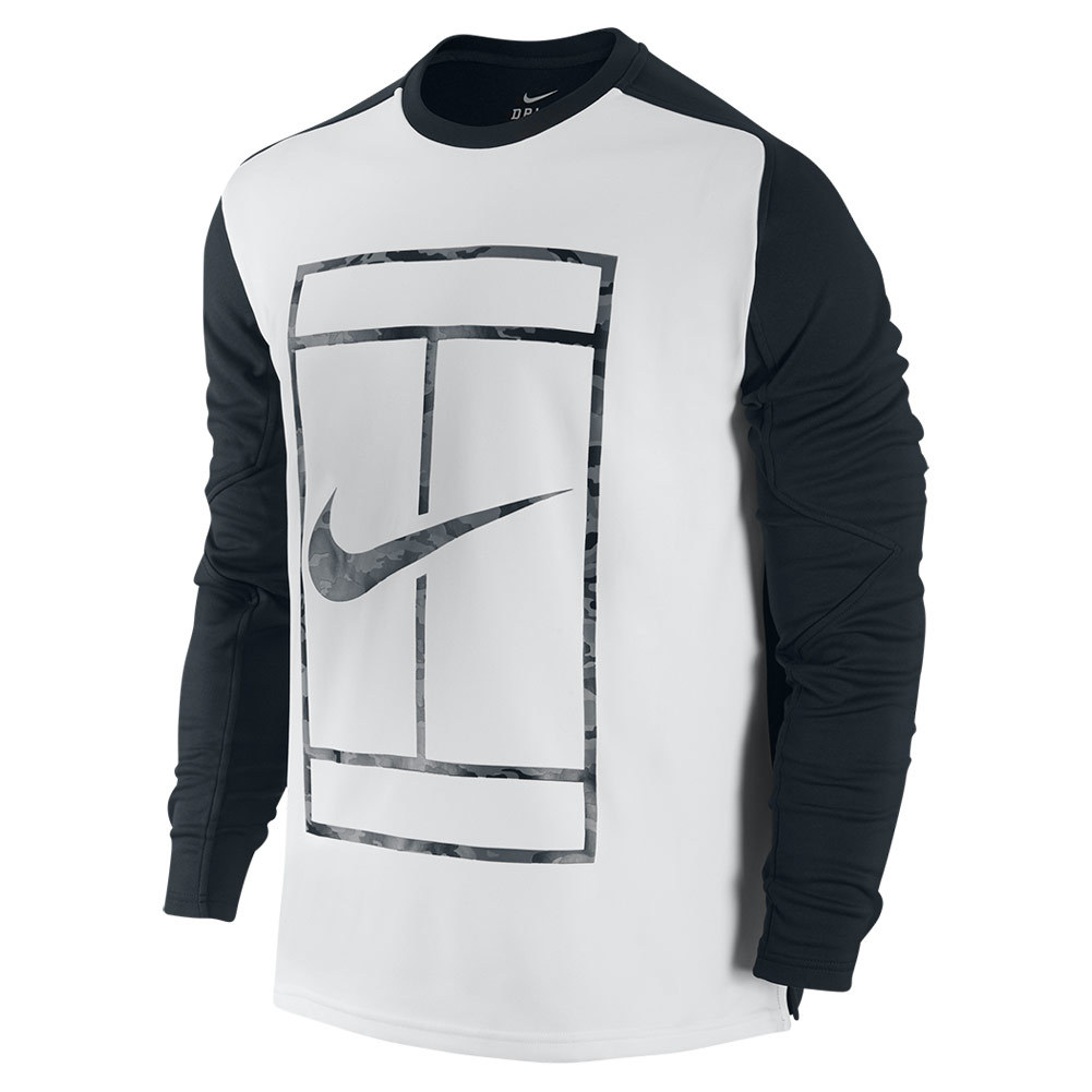 Men`s Practice Long Sleeve Tennis Crew
