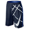 NIKE Boys` Court 8 Inch GFX Tennis Short Midnight Navy