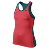 NIKE Girls` Advantage Power Tennis Tank Ember Glow