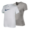 NIKE Girls` Legend V-Neck Swoosh Fill Top