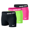 NIKE Girls` Pro Boy Short