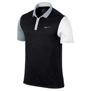 Men`s Advantage Tennis Polo Black and White
