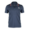 ADIDAS Men`s Barricade Tennis Polo Midnight Gray