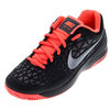 NIKE Juniors` Zoom Cage 2 Tennis Shoes Black and Hot Lava