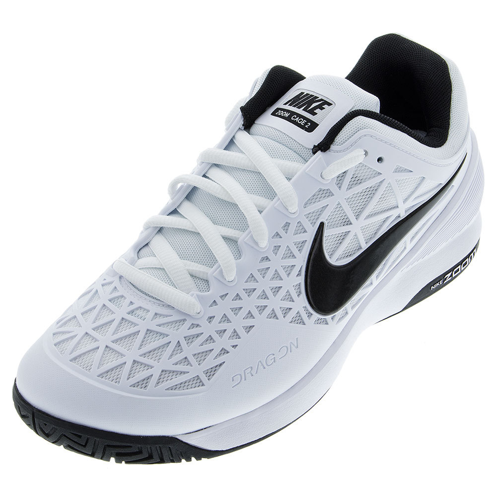 Juniors ` Zoom Cage 2 Tennis Shoes White And Cool Gray