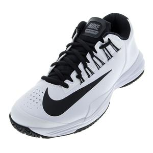 Men`s Lunar Ballistec 1.5 Tennis Shoes White and Cool Gray