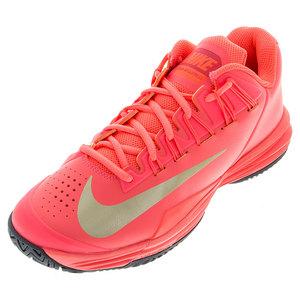 Women`s Lunar Ballistec 1.5 Tennis Shoes Hot Lava and Cool Gray