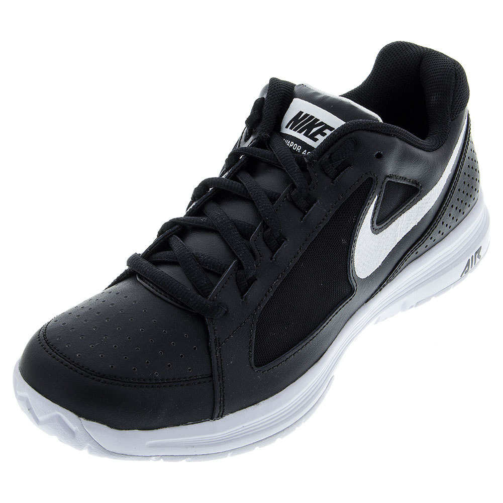 nike s air vapor ace tennis shoes black and white