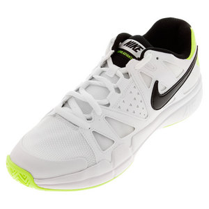 Men`s Air Vapor Advantage Tennis Shoes White and Volt