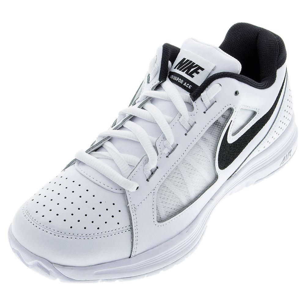 nike mens air vapor ace tennis shoes wht blk